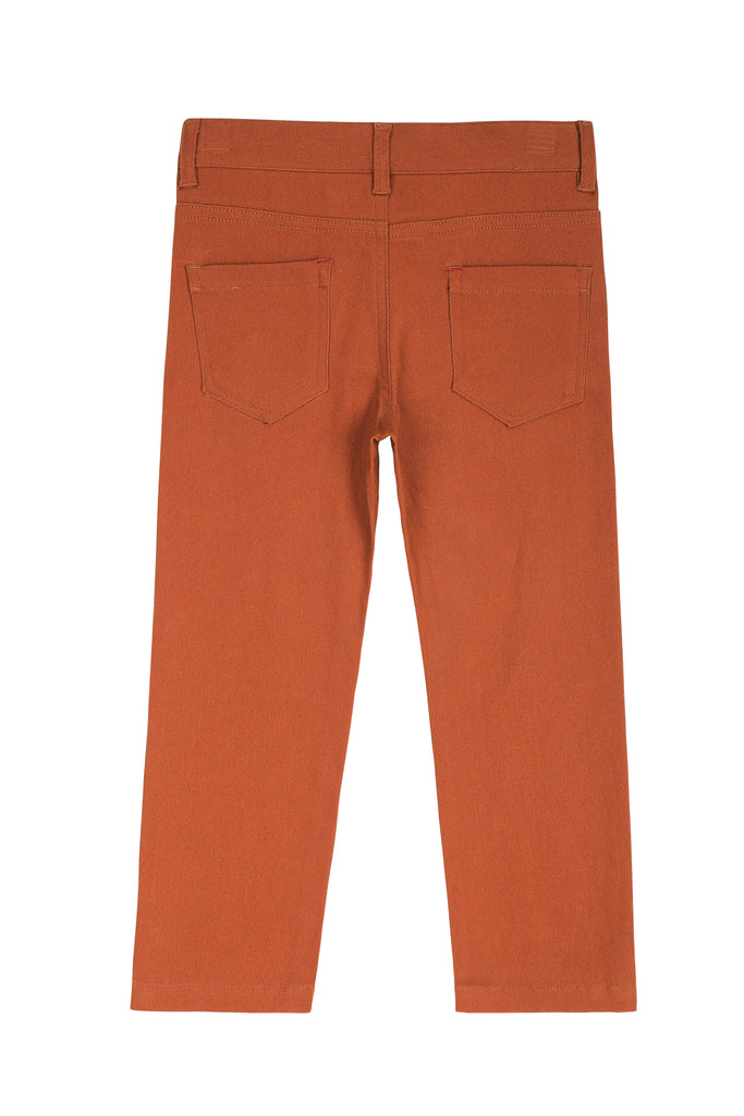Boys Chino Pants in Cognac