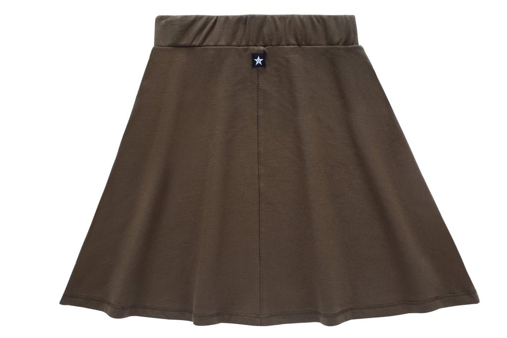 Girls Basic Skirt in Olive