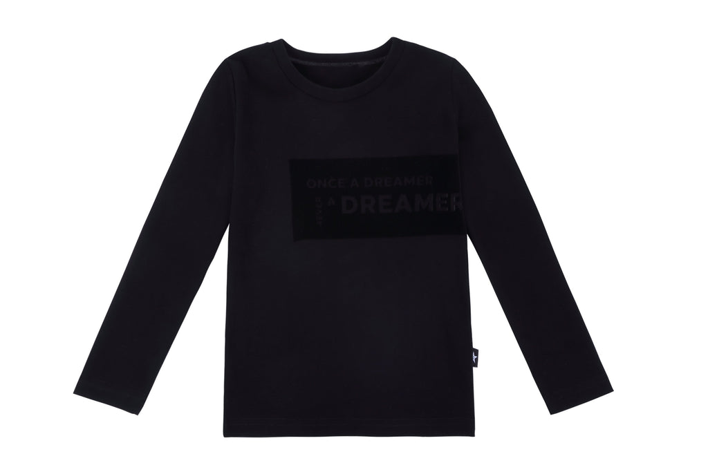 "Pajamas in ""Once A Dreamer"" Black Velour"