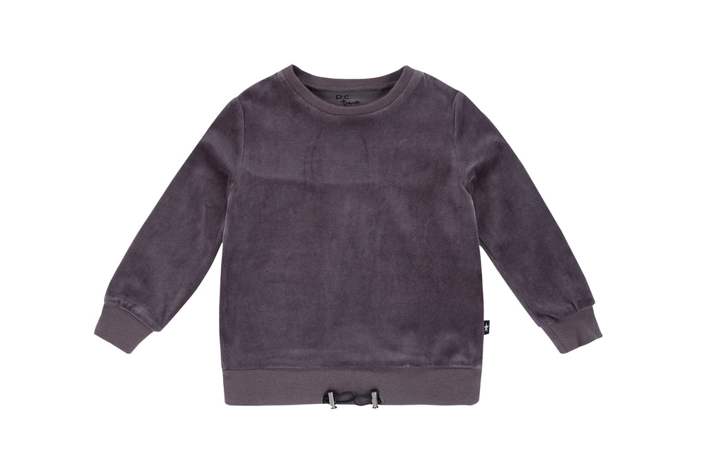 Girls Drawstring waistband Sweatshirt in Grey
