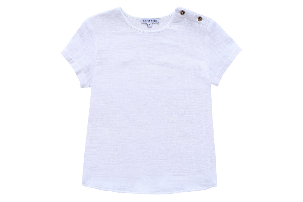 Boys' Extra White Crew Neck Shirt