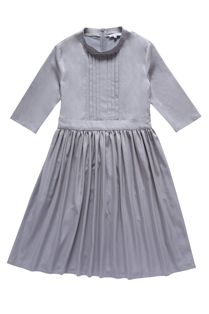Teens' Waisted Dress in Grey
