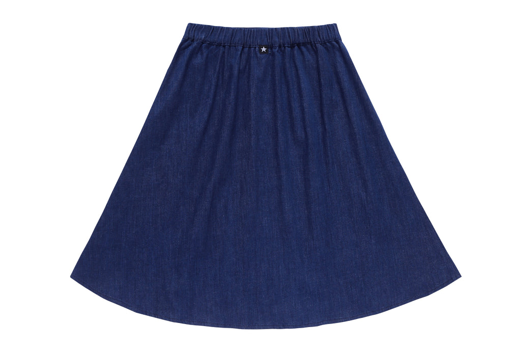 Teens' Side Buttons Skirt in Navy Denim