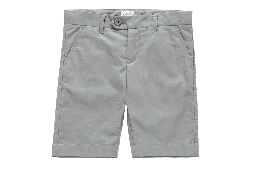 Boys Linen-Like Dress Shorts in Sage
