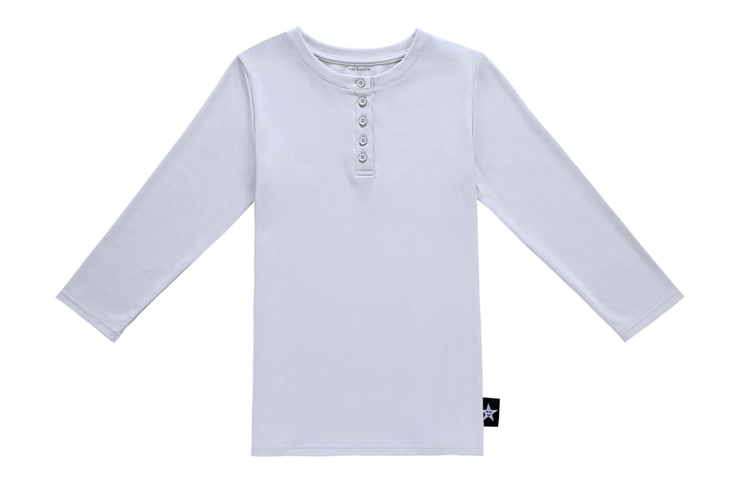 Teens' Henley T-shirt in Light Grey