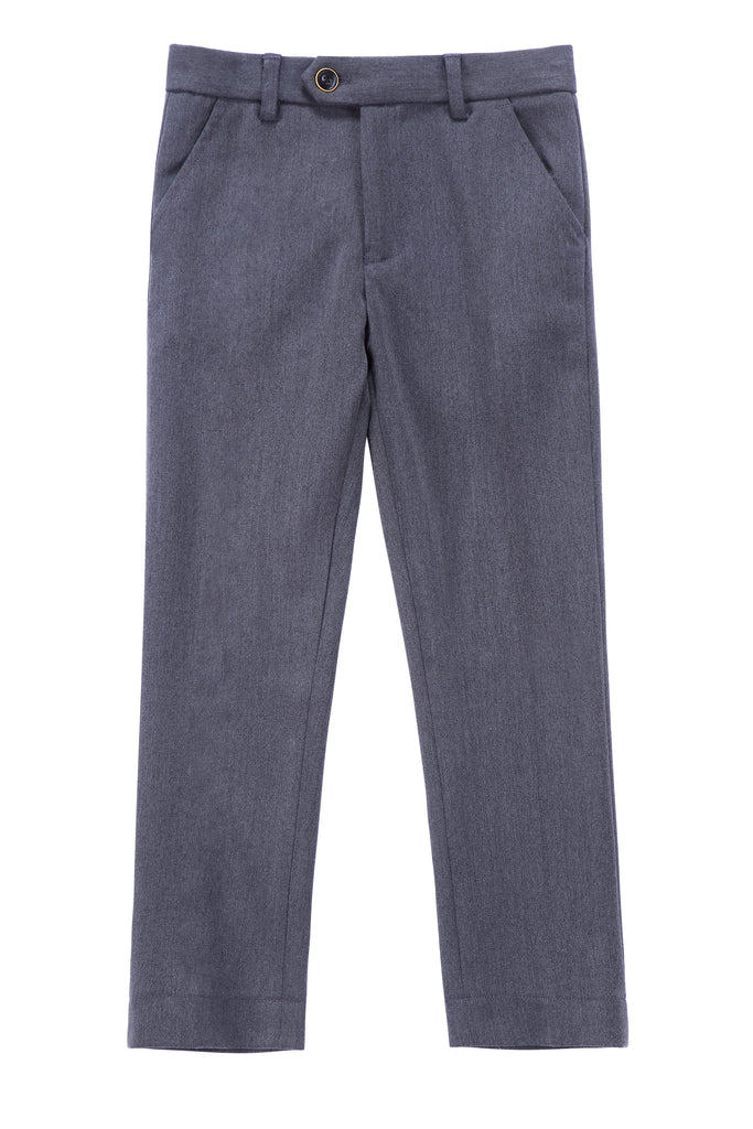 Boys Dress Pants in Charcoal Grey