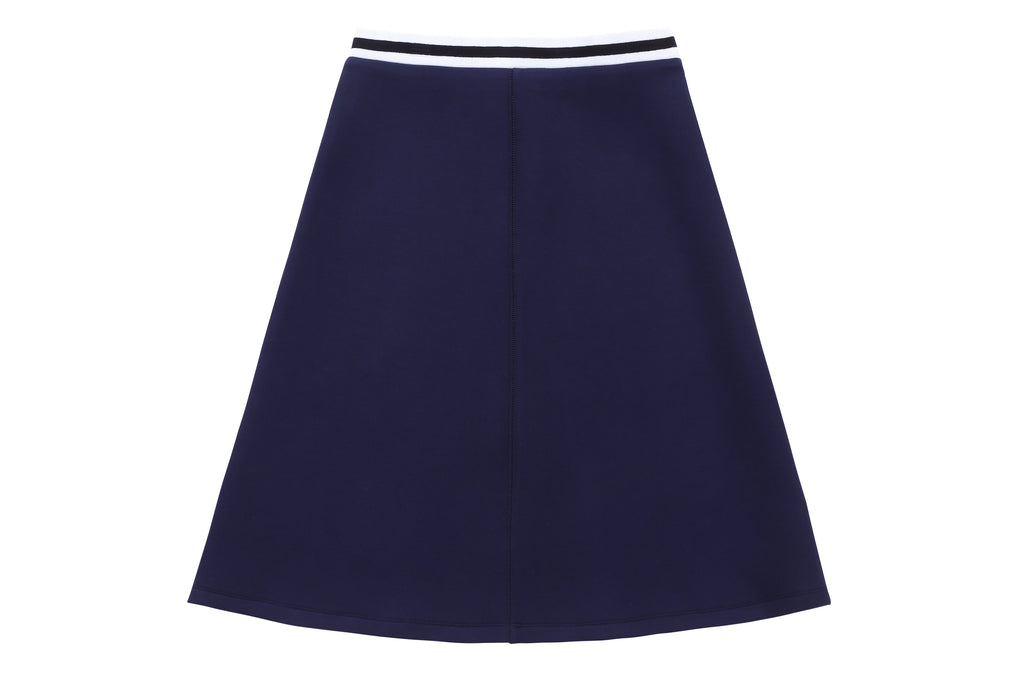 Teens' Scuba Skirt with Sweater Trim