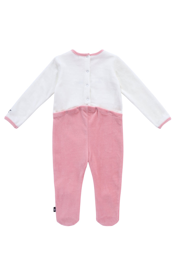 Baby Velour Onesie in Blush