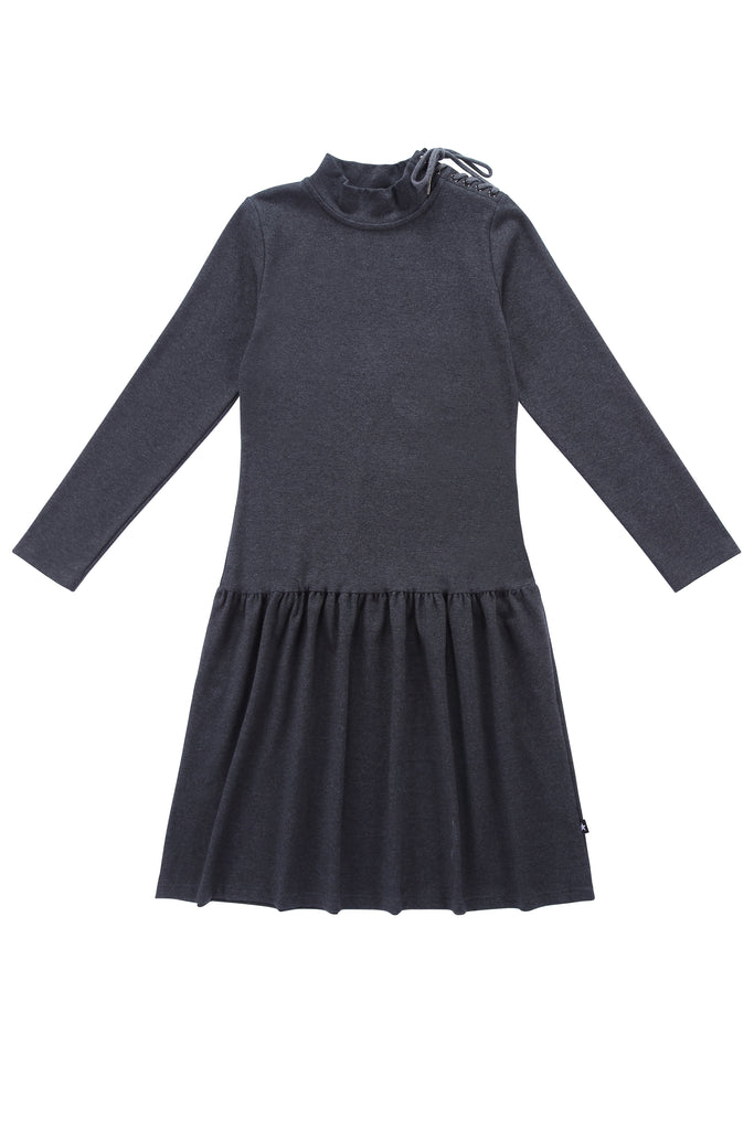Teens' Heather Grey Drop-Waist Dress