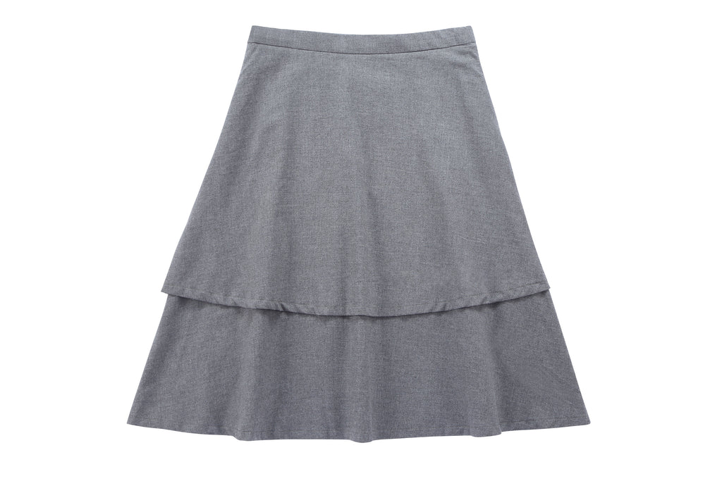 Teens' Tiered Skirt in Grey