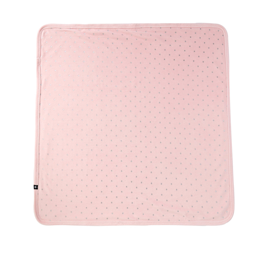 Baby Velour Blanket in Pink Polka Dot