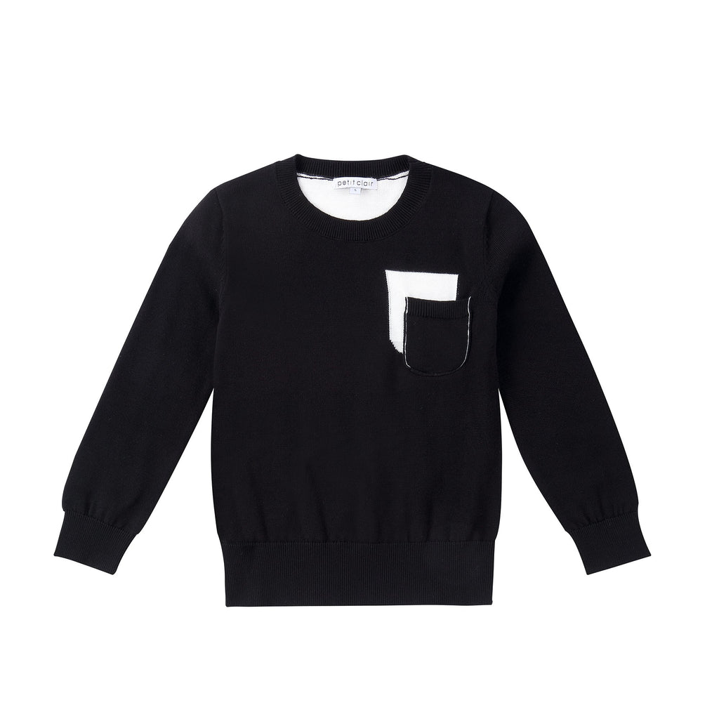 Boys Black and Ivory Sweater