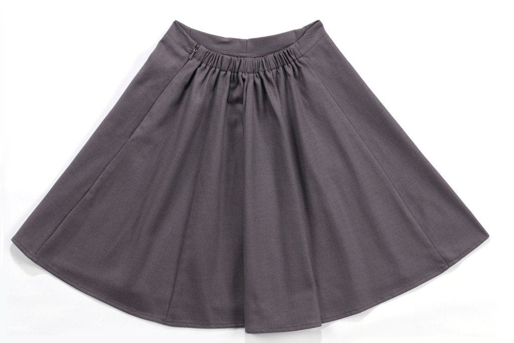 Bristol Solid Skirt in Gunmetal