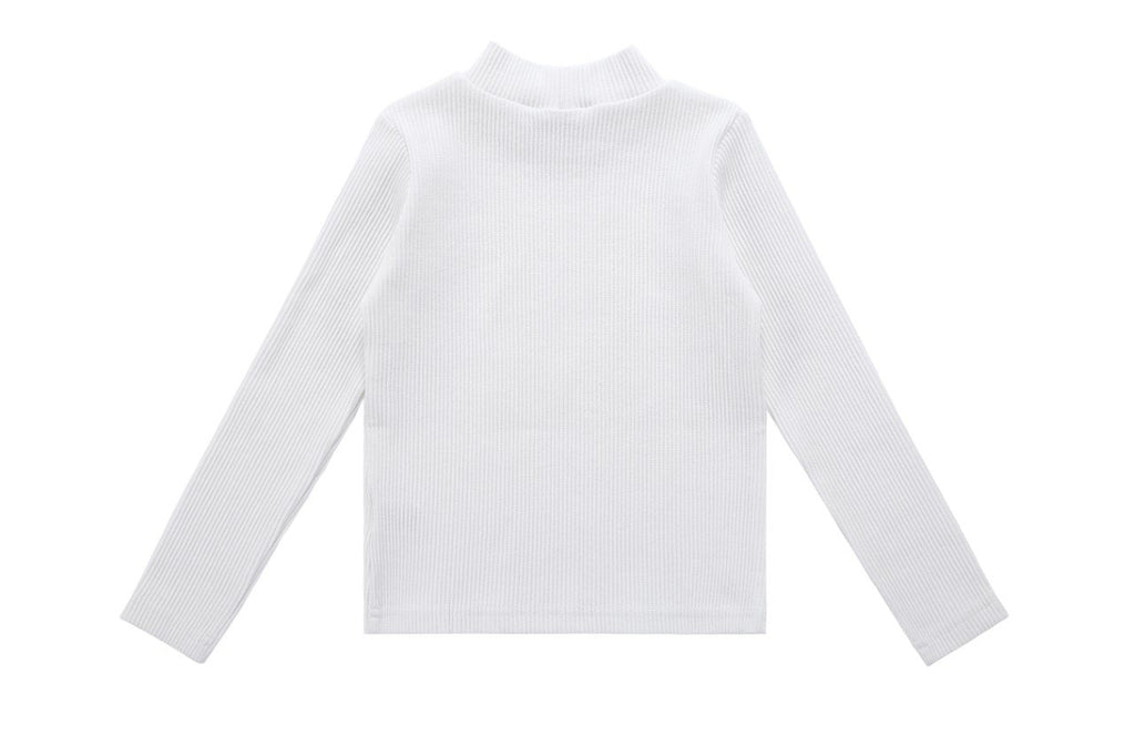 Teens' Ribbed T-shirt in Ivory