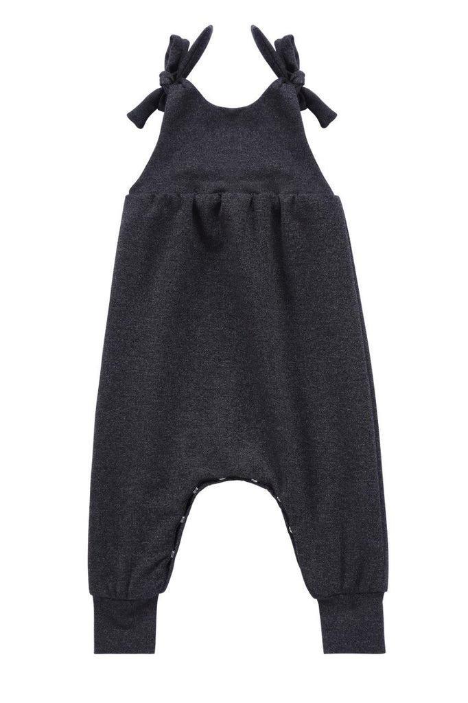 Baby Romper in Heather Black