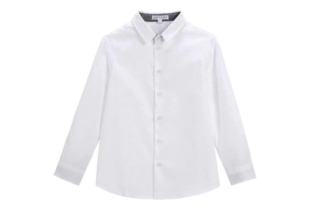 Boys' Contrast Collar Shirt