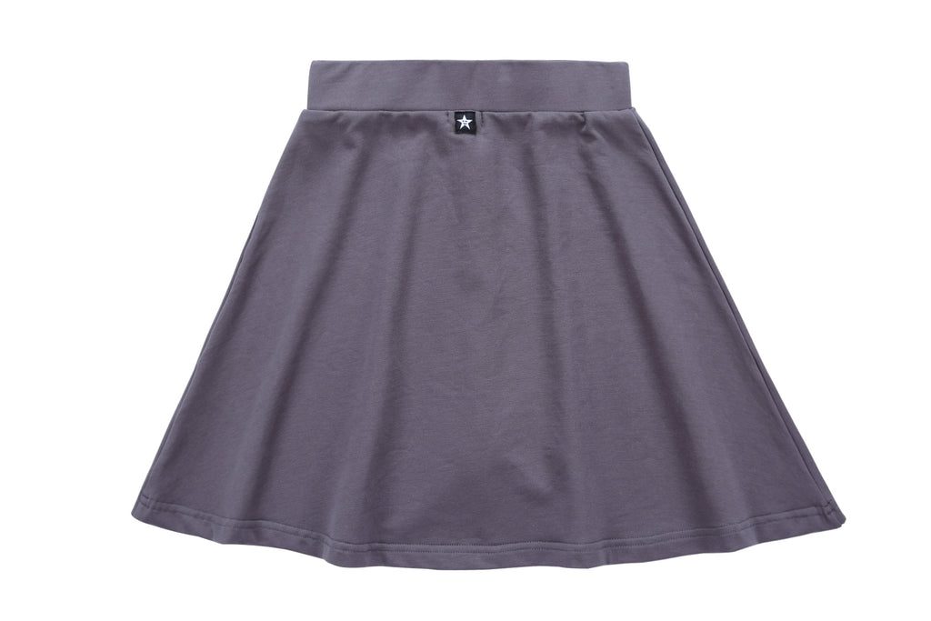 Girls Zipper Skirt in Grey
