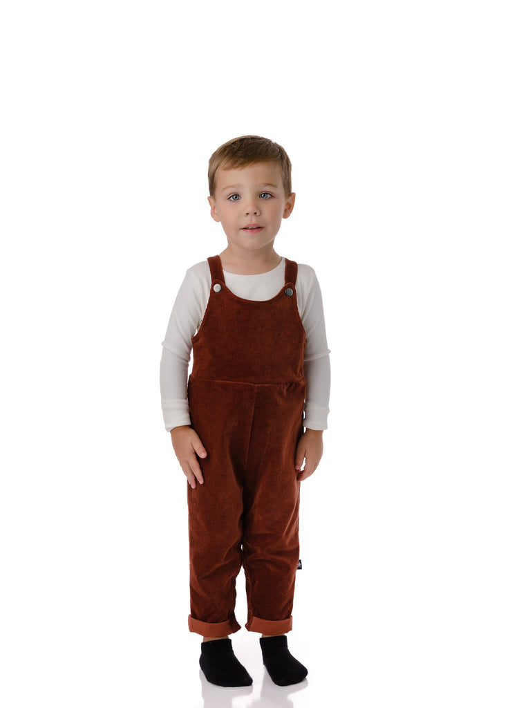 Baby Boys' Corduroy Romper in Rust