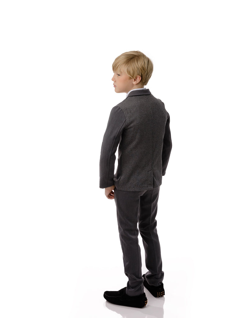 Boy's Pants in Grey (matches brushed cotton blazer)