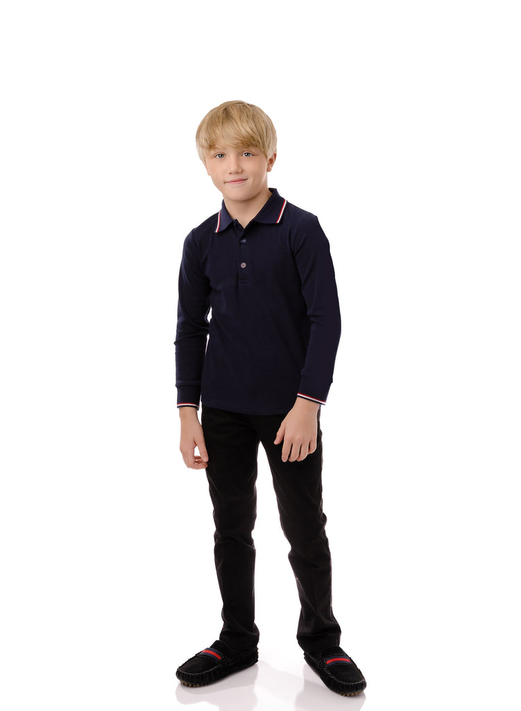 Boys' Polo in Navy