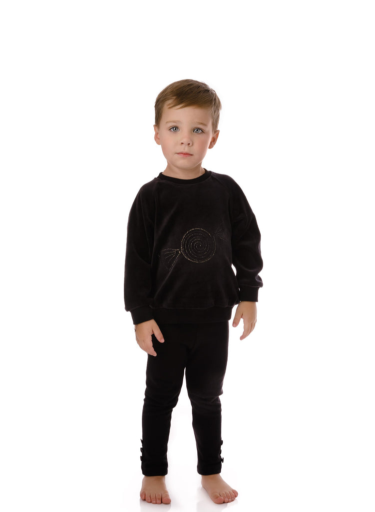 Baby Boys' Velour  Candy Sweatshirt