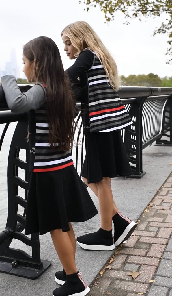 Girls Stripe Swing Tshirt