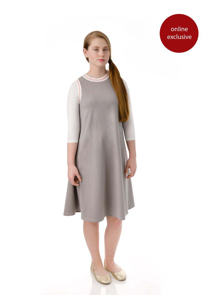 Teens' Sleeveless Grey Dress