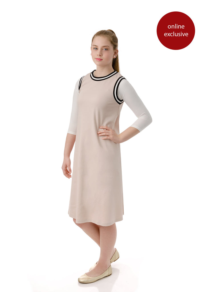 Teens' Sleeveless Blush Dress