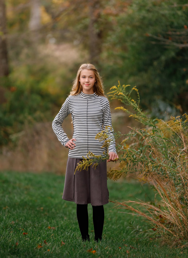 Teens' Striped Top in Grey