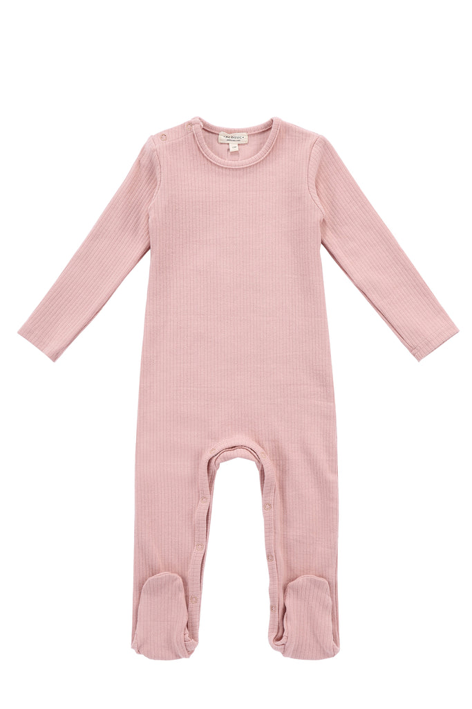 Baby Ribbed Onesie in Blush