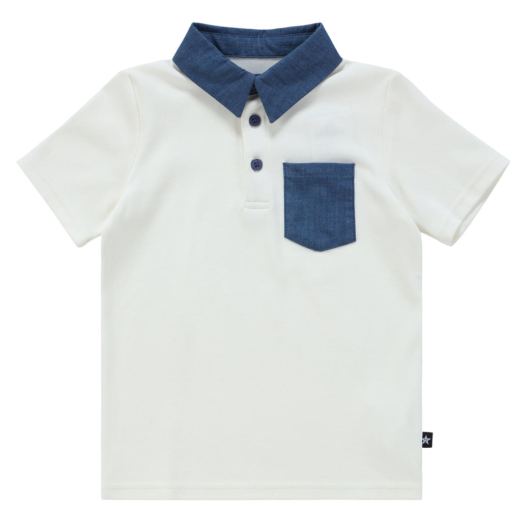 Boys Denim Pocket Polo