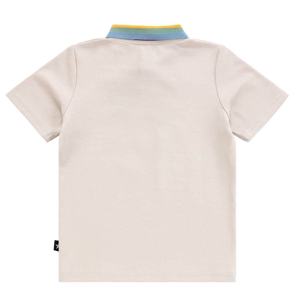Boys Tan Rainbow Polo