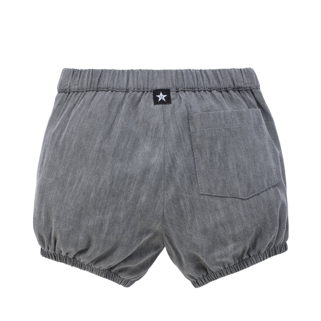 Baby Boy Bloomer in Grey Denim