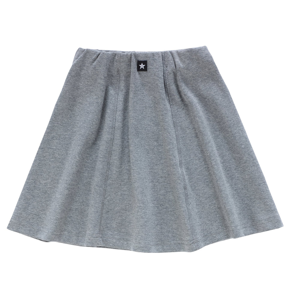 Girls Paneled Skirt in Heather Grey