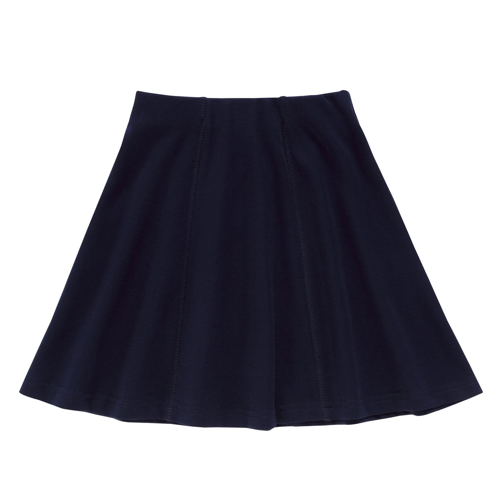 Girls Paneled Skirt in Navy