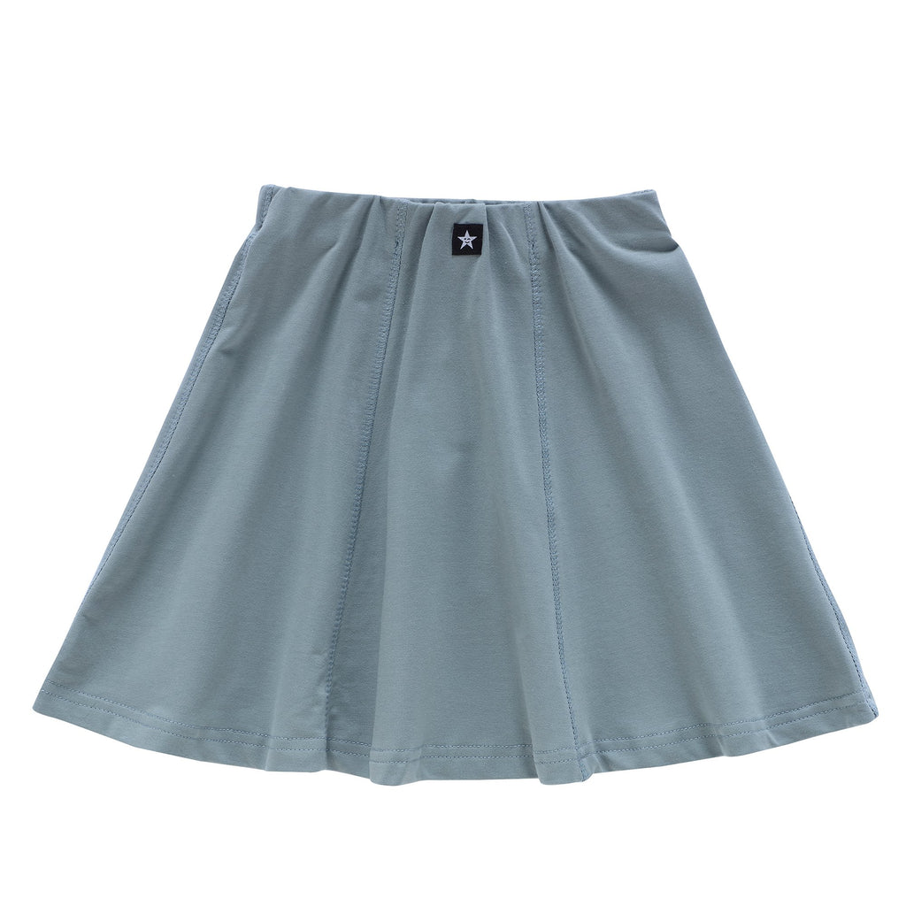 Girls Paneled Skirt in Sea Blue