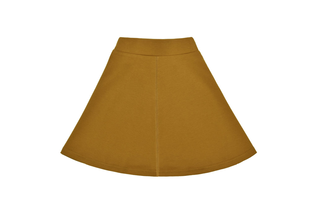 Girls' Basic Skirt in Cognac