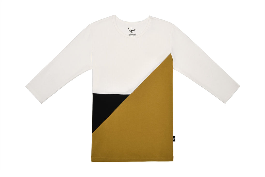 Teens'  Colorblock T-shirt in Cognac