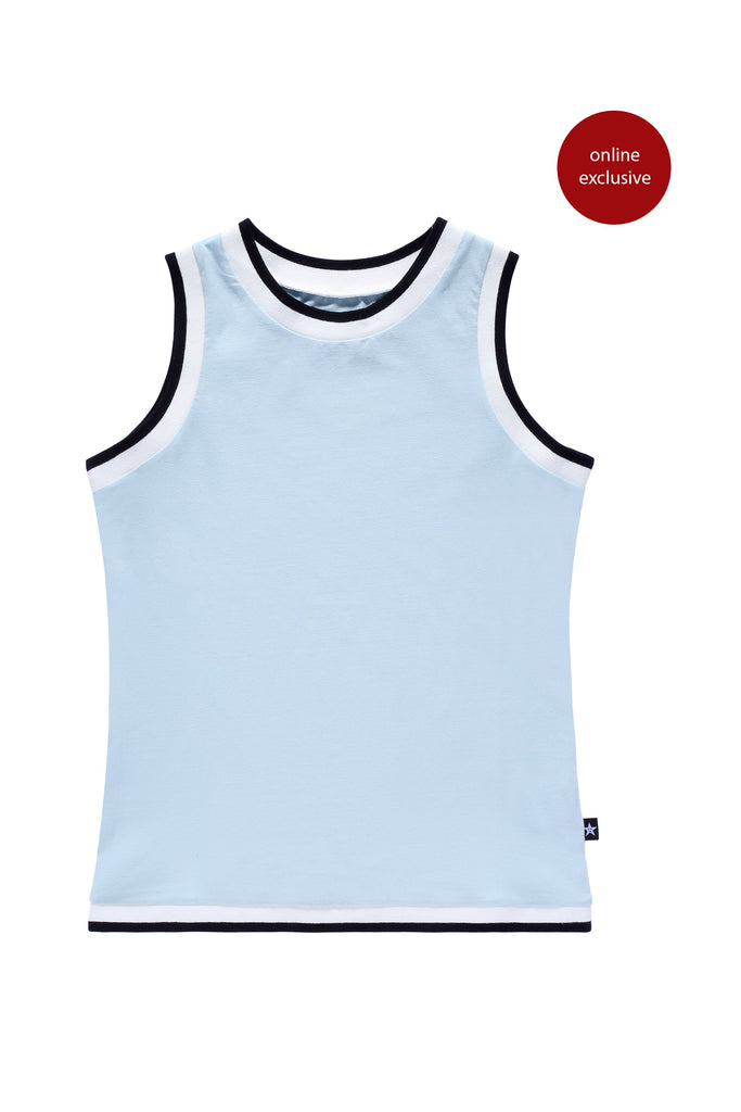 Teens' Sleeveless T-shirt  in Light Blue