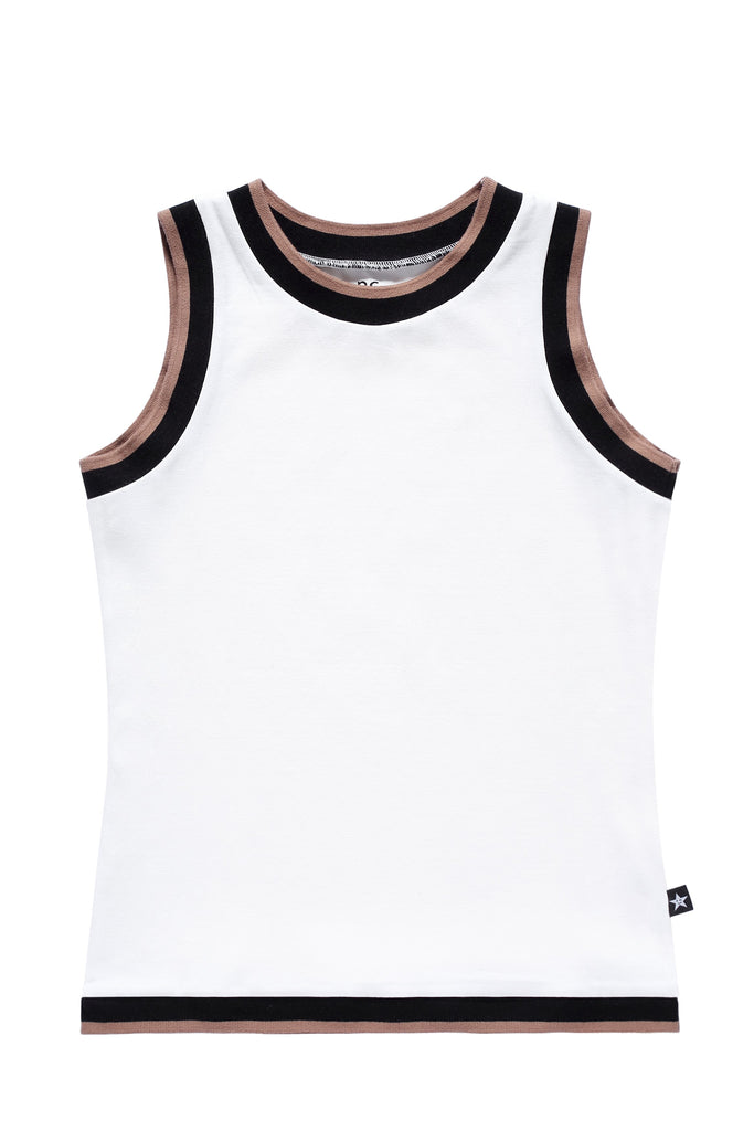 Teens' Sleeveless T-shirt in White