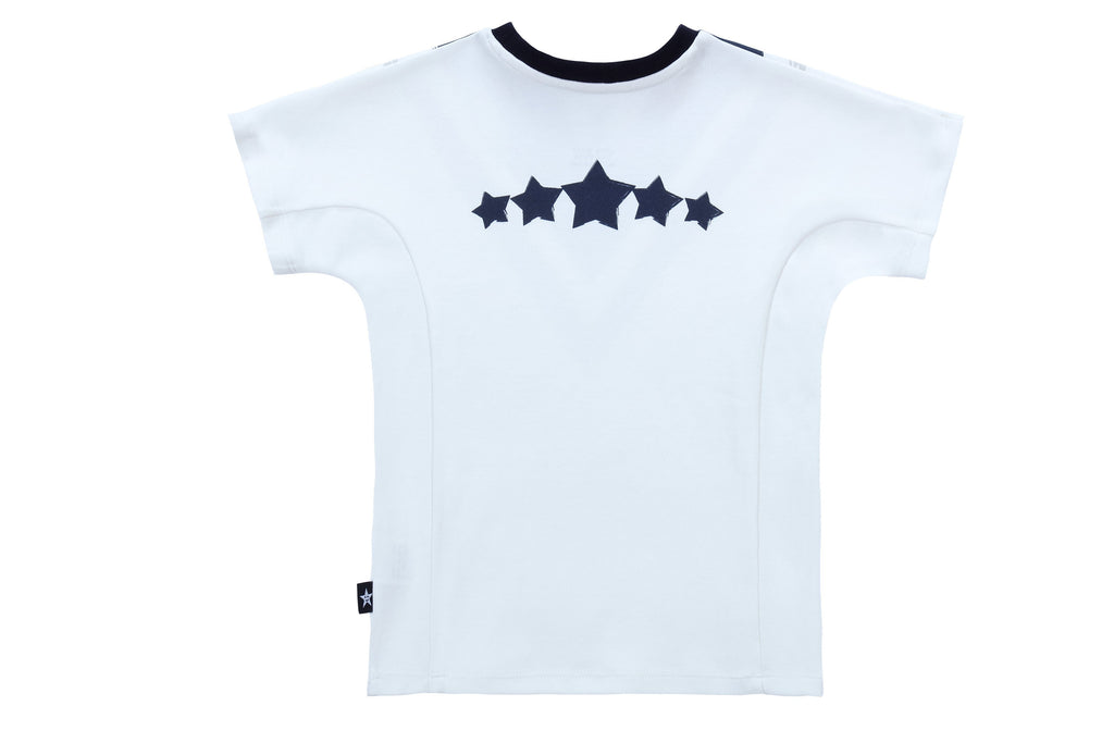 Boys' V-Print T-shirt in Navy