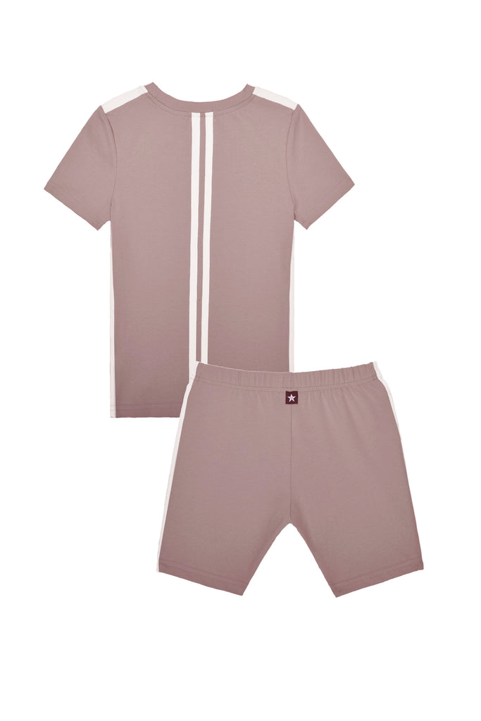 Basic Short Sleeve Pajamas in Blush