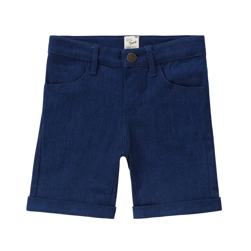 Boys Navy Denim Shorts