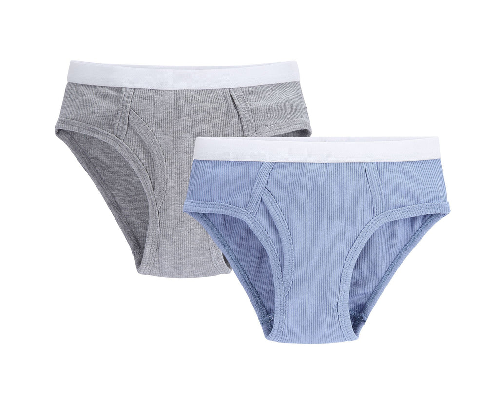 Boys 2pc Colored Ribbed Brief