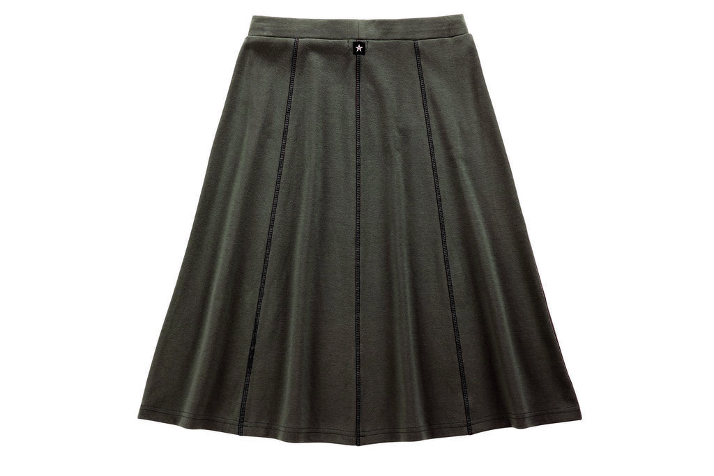 Teens' Paneled Skirt in Green