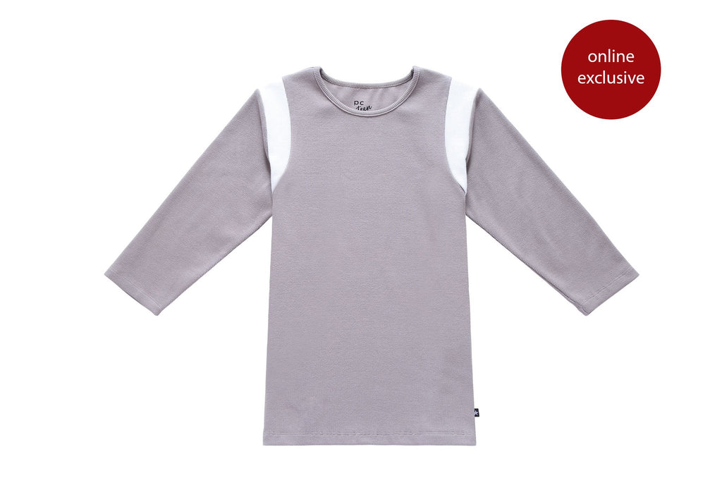 Teens' Grey Ribbed T-shirt