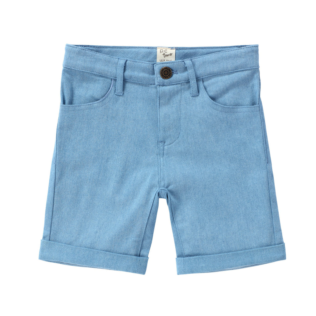 Boys Light Blue Denim Shorts