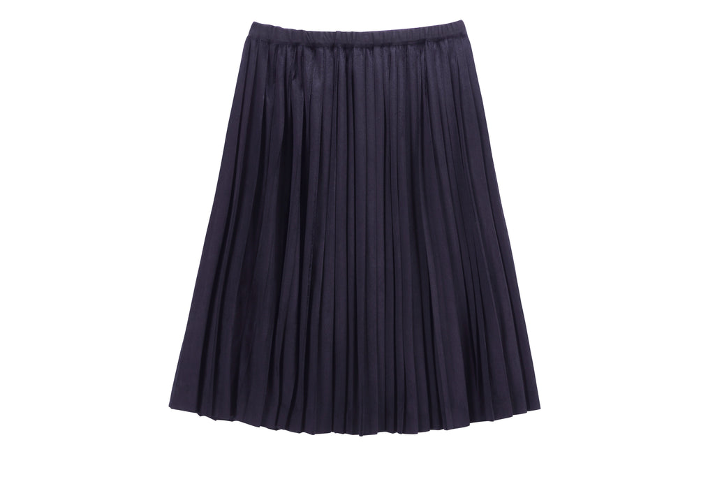 Girls Pleated Skirt in Indigo