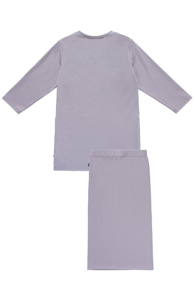 Girls' Basic Grey T-shirt Set
