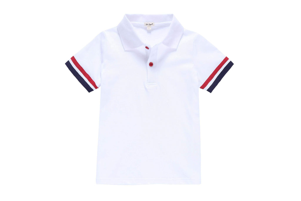 Boys' White Polo